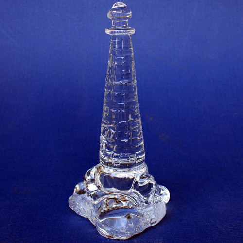 Hand Blown Glass Lighthouse Crystal Sculpture