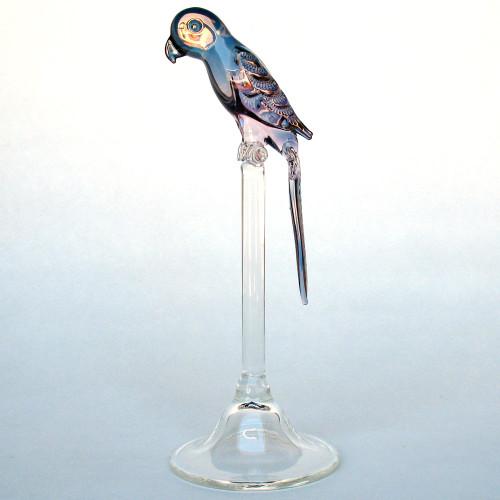 Hand Blown Glass Parrot