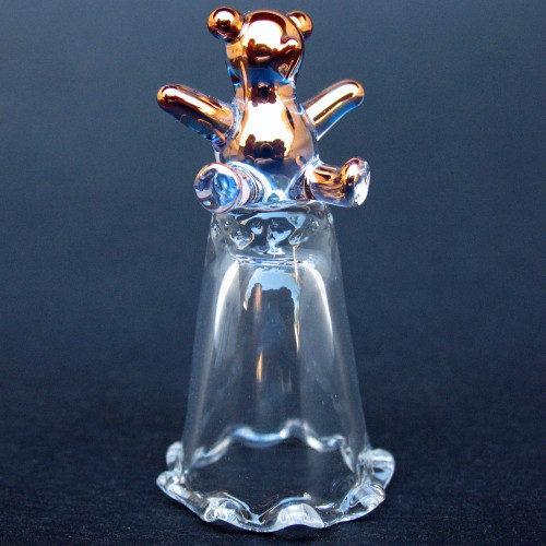 Hand Blown Glass Teddy Bear Thimble