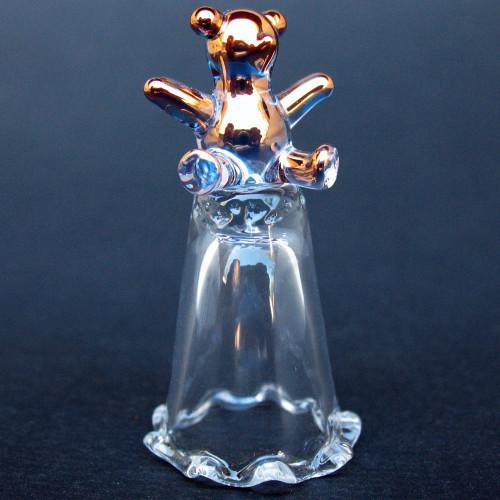Hand Blown Glass Teddy Bear Thimble