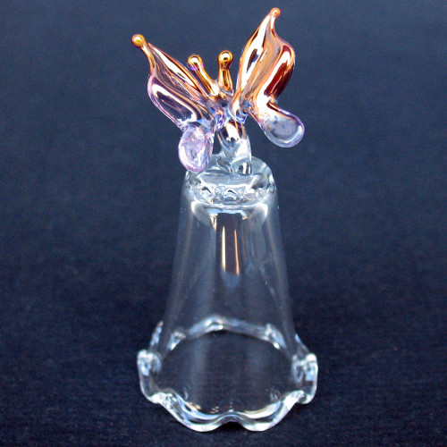 Hand Blown Glass Butterfly Thimble