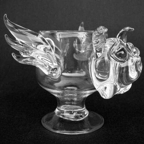Pig with Wings Flying Crystal Wine Glass Coffee Cup Mug