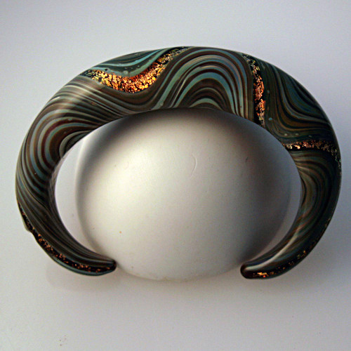 Xeno Pyrex Glass Bracelet - Optical - Dichroic D14