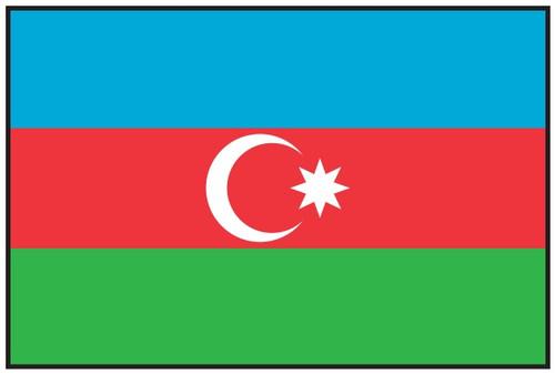 Azerbaijan Flag Printed Nylon