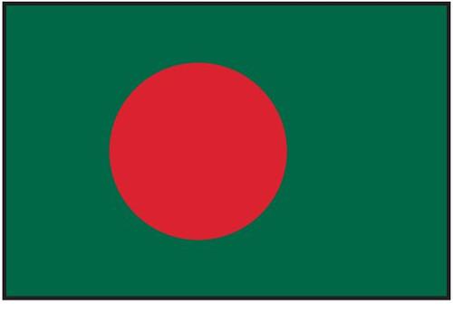 Bangladesh Flag Printed Nylon