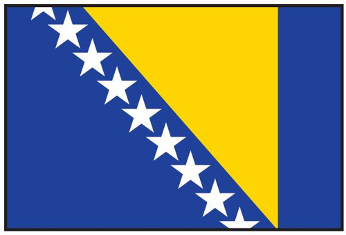 Bosnia-Herzegovina Flag Printed Nylon