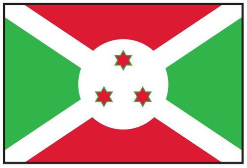 Burundi Flag Printed Nylon