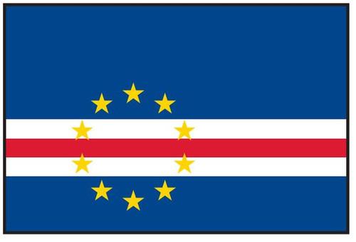 Cape Verde Flag Printed Nylon