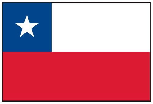 Chile Flag Printed Nylon
