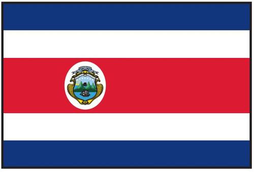 Costa  Rica Flag Printed Nylon