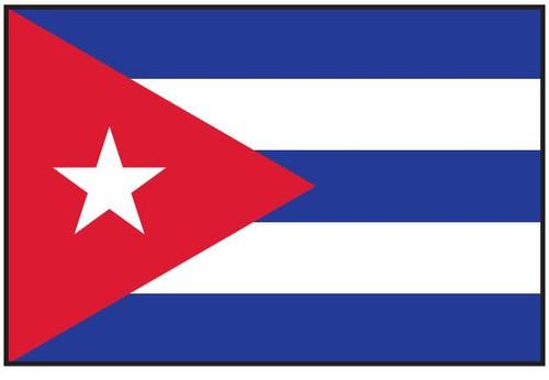 Cuba Flag Printed Nylon
