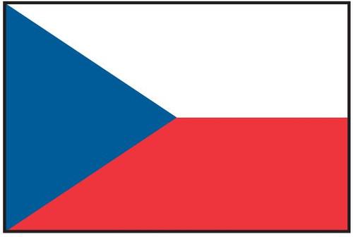 Czech Republic Flag Printed Nylon