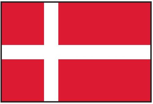 Denmark Flag Printed Nylon