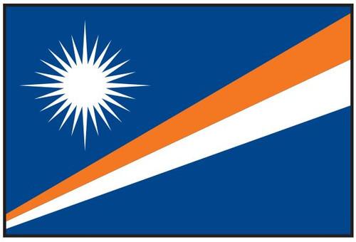 Marshall Islands Flag Printed Nylon