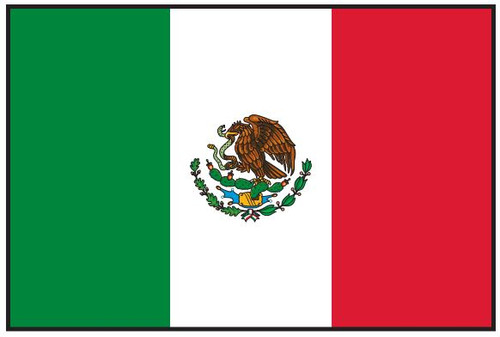 Mexico Flag Printed Nylon