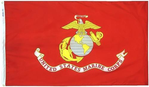 Marine Corps Flag Printed Nylon