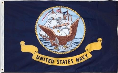 Navy Flag Printed Nylon