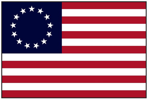 Betsy Ross Historic American Flag Embroidered and Sewn Nylon