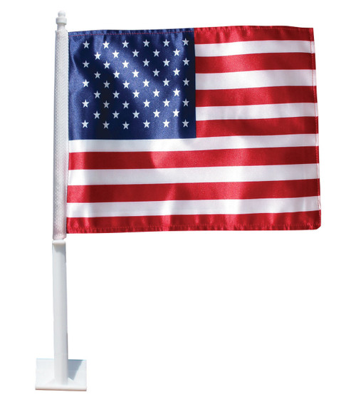 US Car Window Flag