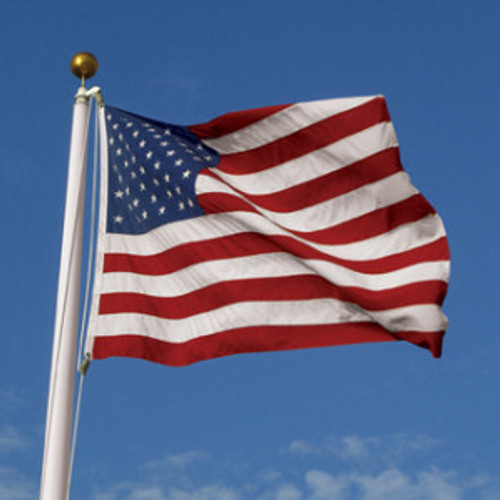 5' x 8' 100% 2Ply Polyester U.S. Flag with Sewn Stars and Stripes
