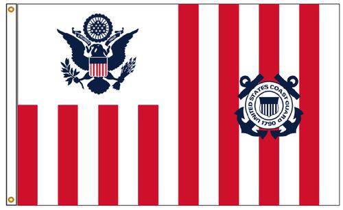 US Coast Guard Ensign Flag