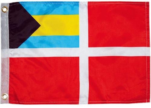 "Bahamas Courtesy Flag  16' x 24"" Nylon"