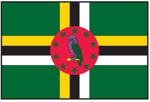 "Dominica Courtesy Flag 12"" x 18"" Nylon"