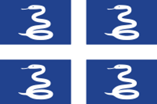 "Martinique Courtesy Flag 12"" x 18"" Nylon"