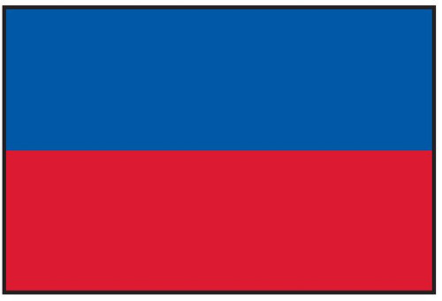 "Haiti Courtesy Flag 12"" x 18"" Nylon"