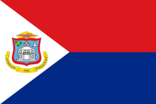 "Saint Maarten Courtesy Flag 12"" x 18"" Nylon"