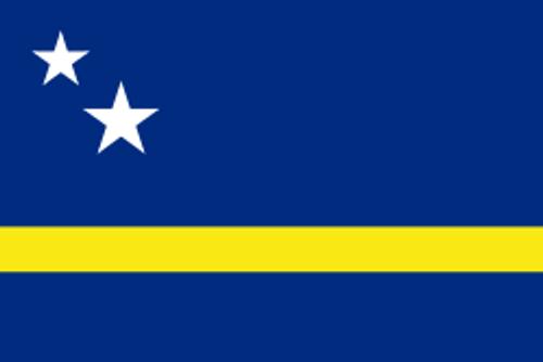 """Curaçao Courtesy Flag 12"""" x 18"""" Nylon"""