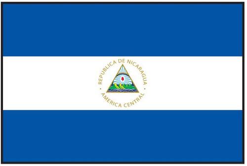"Nicaragua Courtesy Flag  12"" x 18"" Nylon"