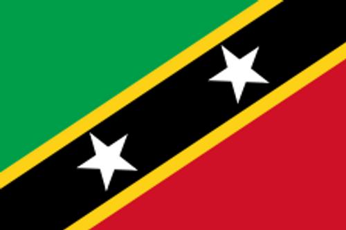"Saint Kitts and Nevis Courtesy Flag 12"" x 18"" Nylon"