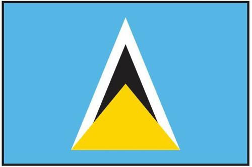 "Saint Lucia Courtesy Flag 12"" x 18"" Nylon"