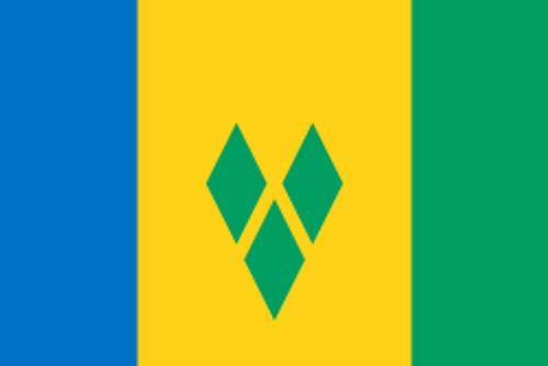 "Saint Vincent and the Grenadines Courtesy Flag 12"" x 18"" Nylon"