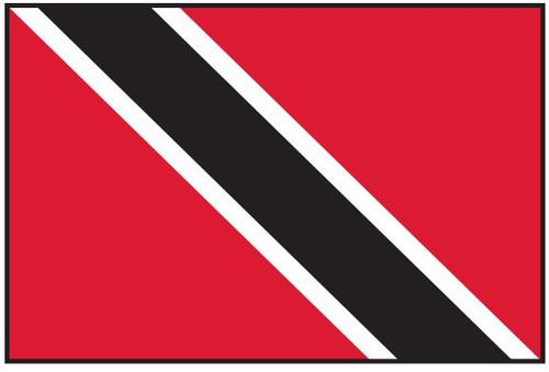 "Trinidad and Tobago Courtesy Flag 12"" x 18"" Nylon"