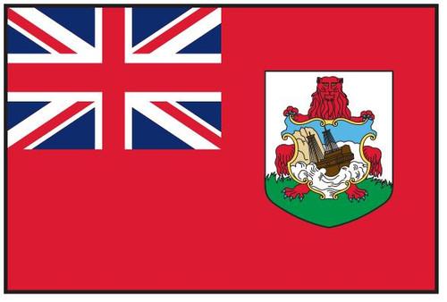"""Bermuda Courtesy Flag 12"""" x 18"""" Nylon"""