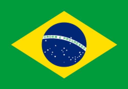 "Brazil Courtesy Flag 12"" x 18"" Nylon"