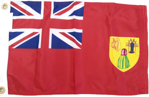 "Turks and Caicos Courtesy Flag 12"" x 18"" Nylon"