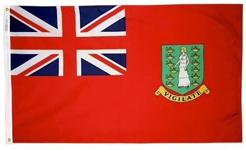 "British Virgin Islands Courtesy Flag 12"" x 18"" Nylon"