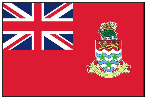 "Cayman Islands Courtesy Flag 12"" x 18"" Nylon"