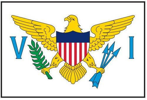 "U.S. Virgin Islands Courtesy Flag 12"" x 18"" Nylon"