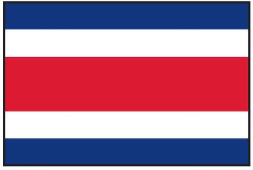 "Costa Rica Courtesy Flag 12"" x 18"" Nylon"