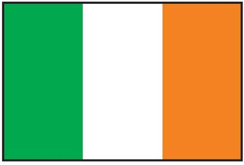 "Ireland Courtesy Flag 12"" x 18"" Nylon"