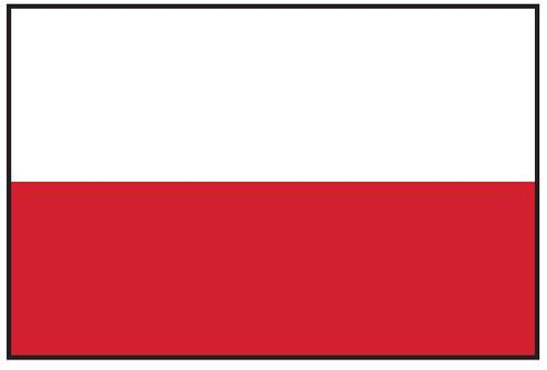 """Poland Courtesy Flag 12"""" x 18"""" Nylon"""