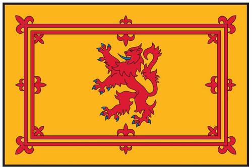 "Scotland Courtesy Flag (Rampant Lion Royal Standard) 12"" x 18"" Nylon"