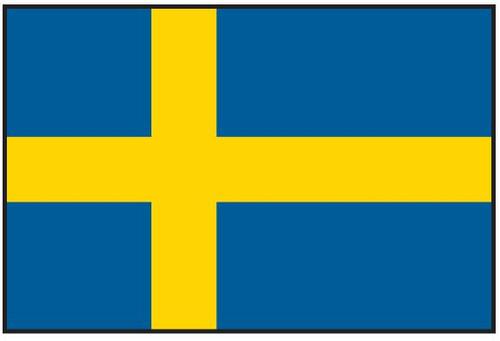 "Sweden Courtesy Flag 12"" x 18"" Nylon"