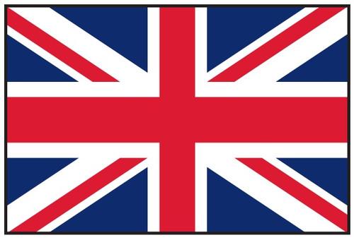 "United Kingdom Courtesy Flag 12"" x 18"" Nylon"