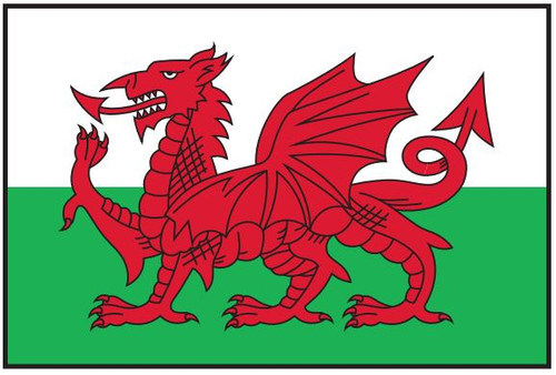 "Wales Courtesy Flag 12"" x 18"" Nylon"
