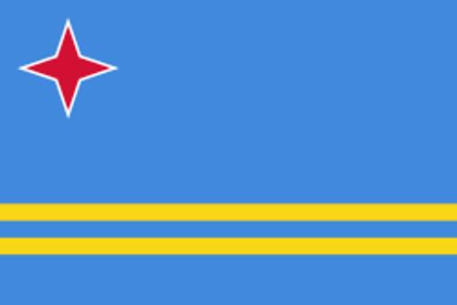 """Aruba Courtesy Flag 12"""" x 18"""" Nylon"""